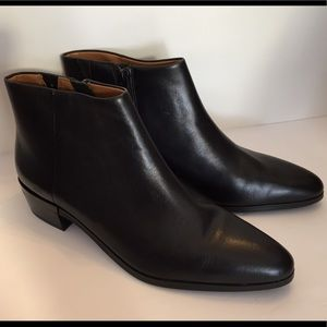 Coach Montana Black Leather Booties 9.5